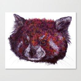 Crimson Panda Canvas Print