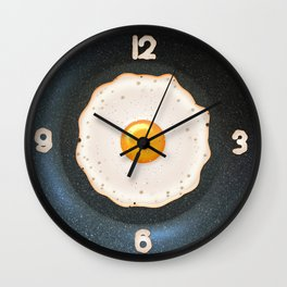 Fried Egg in Pan - Round Wall Clock Wall Clock