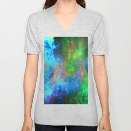 Speed Of Light - Abstract space painting Unisex V-Neck