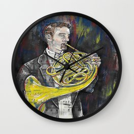 French Horn 1 Wall Clock