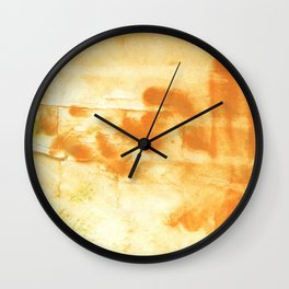 Blond abstract watercolor Wall Clock