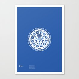 """""""OREO"""" Biscuit poster Canvas Print"""