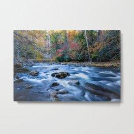 Fall in the Smokies - Autumn Colors at Laurel Creek in Smoky Mountains Metal Print