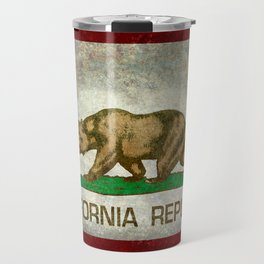 California Republic state flag Vintage Travel Mug