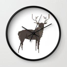 Pixel Stag Wall Clock