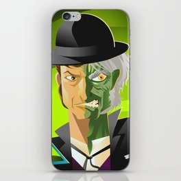 doctor jekyll and mister hyde monster tranformation with green potion iPhone Skin