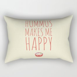 Hummus Makes Me Happy Rectangular Pillow