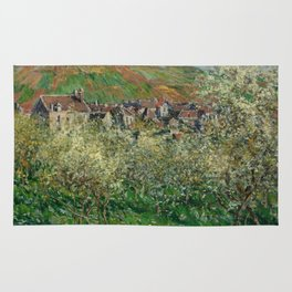 Plum Trees in Blossom Rug