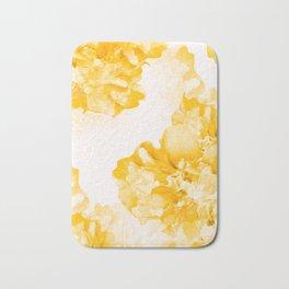 Beautiful Peony Flowers White Background #decor #society6 #buyart Bath Mat