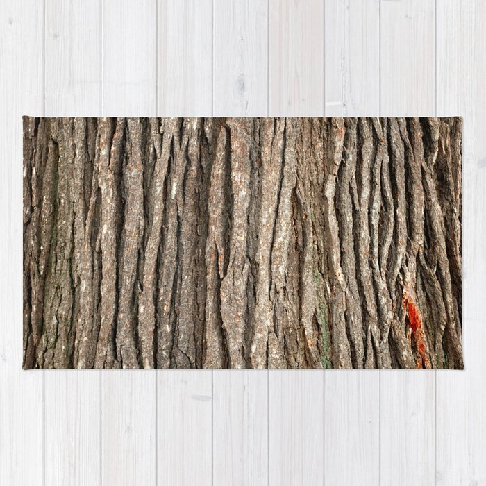 Wood bark Rug