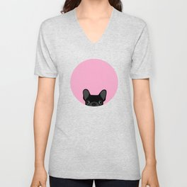 French Bulldog Unisex V-Neck