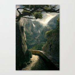 Hall of the Dragon Mist Canvas Print