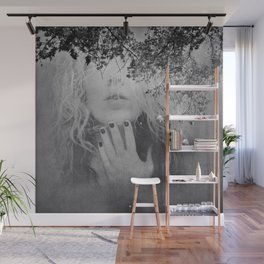 Soul - surreal dreamy portrait, woman nature photo, spiritual portrait Wall Mural