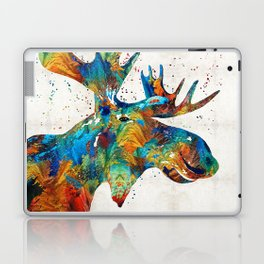 Colorful Moose Art - Confetti - By Sharon Cummings Laptop & iPad Skin