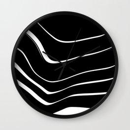 Organic No. 10 Black & White #minimalistic #design #society6 #decor #artprints Wall Clock