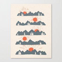 Sunrises... Sunsets... Canvas Print