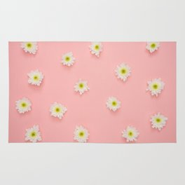 Flowers on Pink Rug