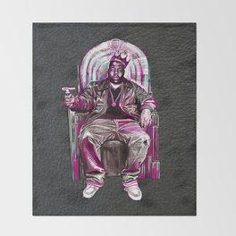 Notorious Big *King* Throw Blanket