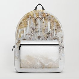 Palace Chandelier Gold Backpack