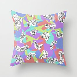 90's Pattern Throw Pillow