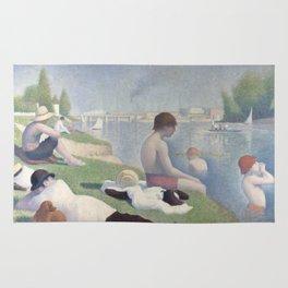 Bathers at Asnières Rug