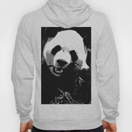 Cute Giant Panda Bear with tasty Bamboo Leaves Hoody