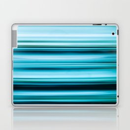 Turquoise Color Abstract Horizontal Lines #decor #society6 #buyart Laptop & iPad Skin