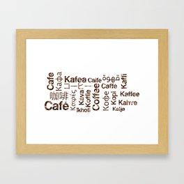 Mug Coffee cloud Framed Art Print