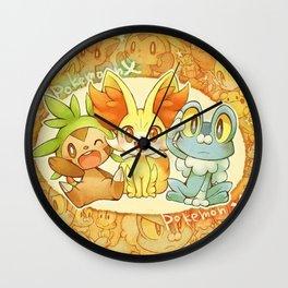 Frenniken Froakie Chespin Wall Clock