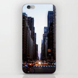 City lights - New York iPhone Skin