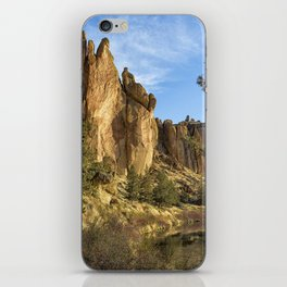 Cool Formations of Smith Rock in Morning Light iPhone Skin