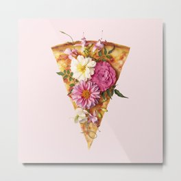FLORAL PIZZA Metal Print