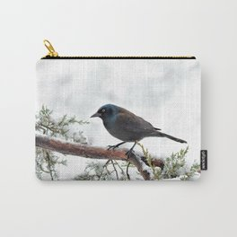 Snow Grackle Carry-All Pouch