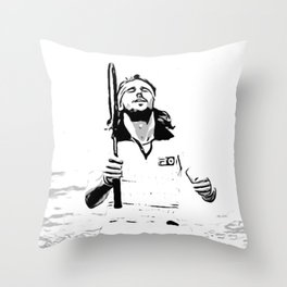 Borg Wins Wimbledon for 5th straight time Throw Pillow