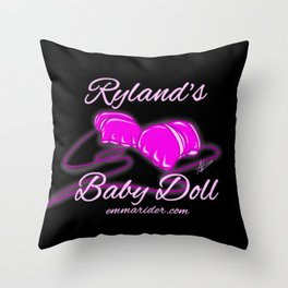 Ryland's Baby Doll Gloves Logo Throw Pillow