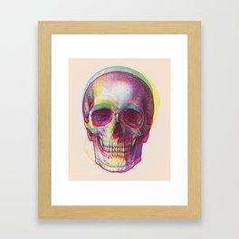 acid calavera Framed Art Print