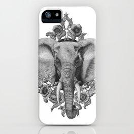 Elephant & Poppies  iPhone Case
