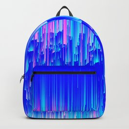 Neon Rain - A Digital Abstract Backpack