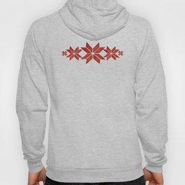 Scandinavian inspired print with red mini stars Hoody