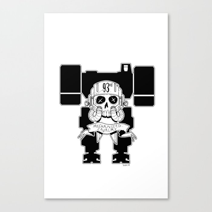 93rd Mechanized Cavalry Logo _Mech Version Canvas Print By