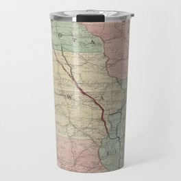 Vintage Midwestern United States Railroad Map Travel Mug
