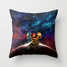 Metroid Samus Returns Throw Pillow
