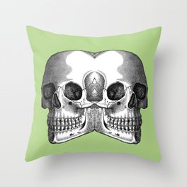 Double Trouble / PASTEL GREEN Throw Pillow