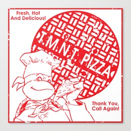 TMNT Pizza Canvas Print