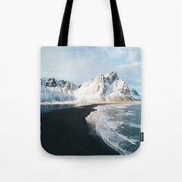 Iceland Mountain Beach - Landscape Photography Tote Bag