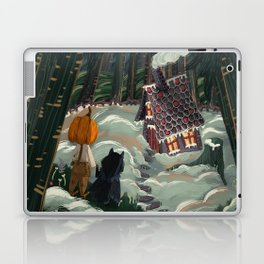 the witch in the gingerbreadhouse Laptop & iPad Skin