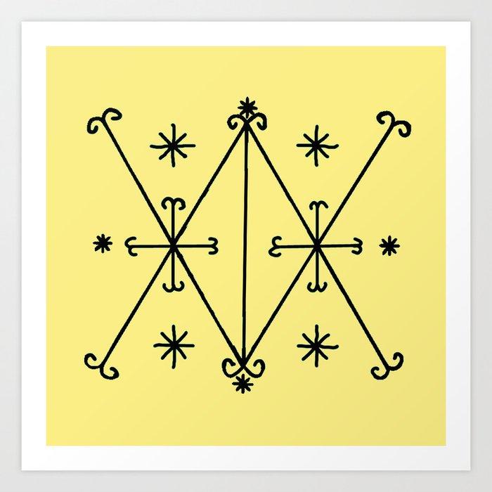 Voodoo Symbol Ayzian Art Print By Aquamanofpdx Society6