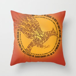 Catching Fire Typography Throw Pillow