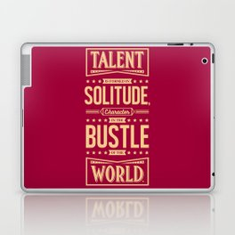 Lab No. 4 Talent Is Formed Johann Goethe Life Motivational Quotes Laptop & iPad Skin