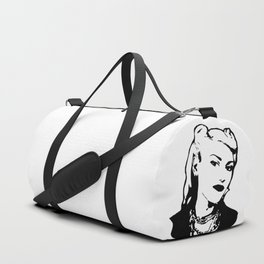 Portrait of an superstar American singer, songwriter, and actress Duffle Bag